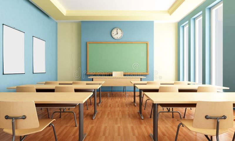 sala lekcyjna pusta ilustracji