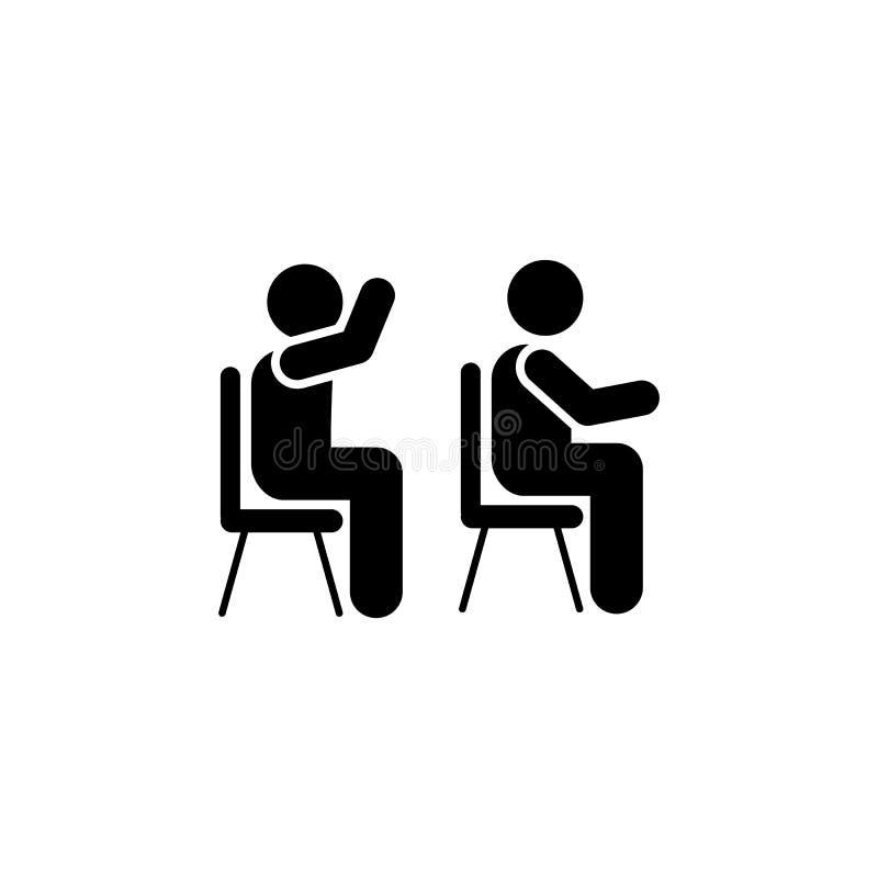 Sala lekcyjna, uczeń, opowiada ikonę Element edukacja piktograma ikona Premii ilo?ci graficznego projekta ikona podpisz symboli ilustracja wektor