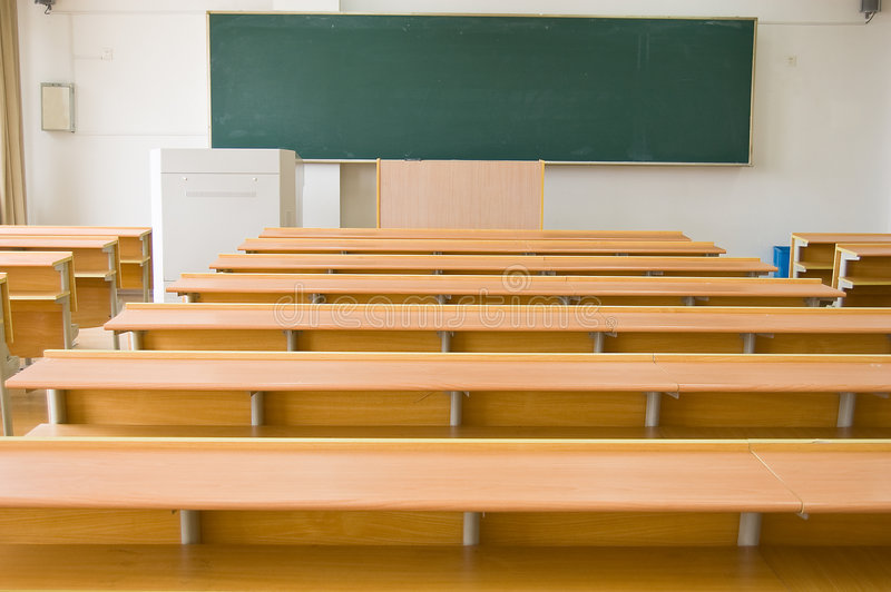 sala lekcyjne uniwersyteckie obrazy stock