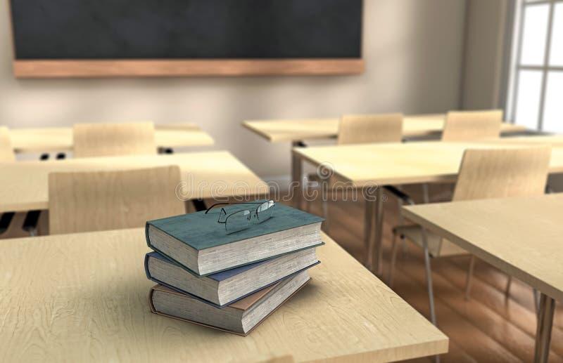 Sala lekcyjnych książki zdjęcie stock