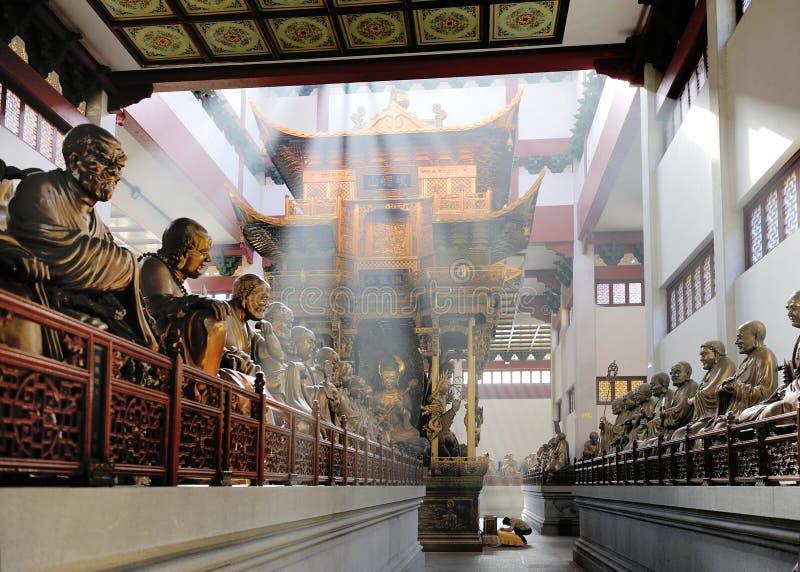sala lingyin statuy świątynne obraz stock