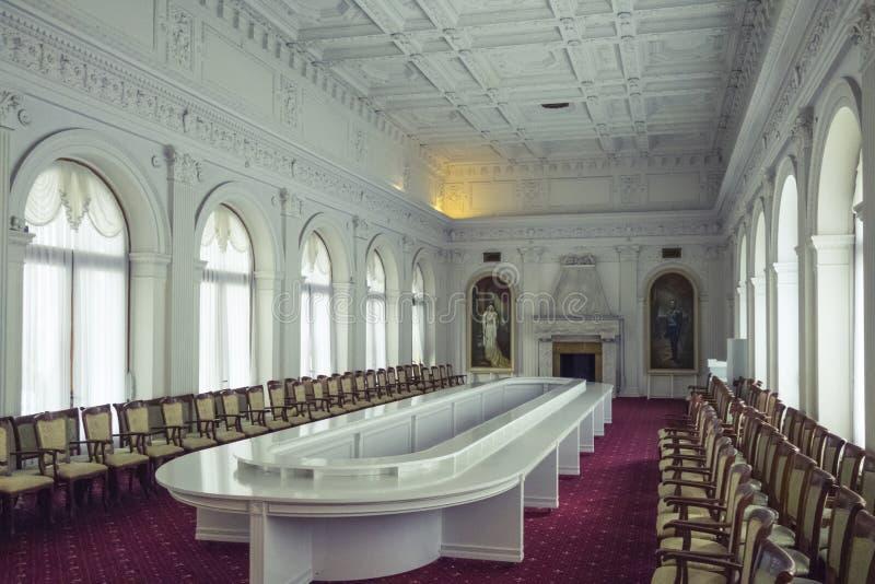 Sala Livadia pałac, Crimea zdjęcia royalty free