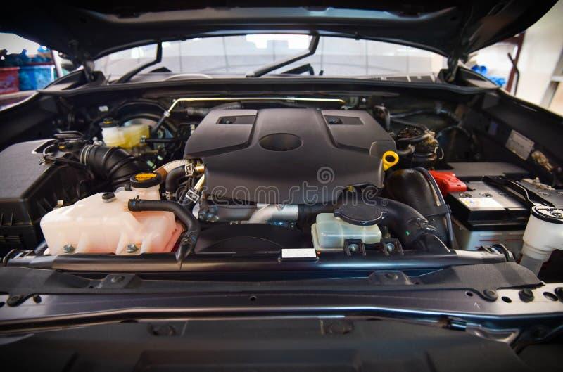 Sala macchine dell'automobile immagini stock
