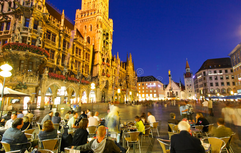 sala marienplatz miasta zdjęcia royalty free