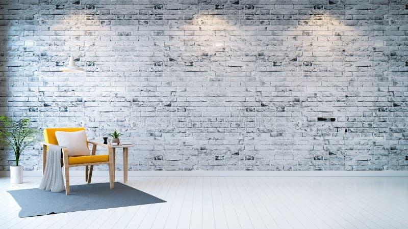 Sala minimalista ilustração royalty free