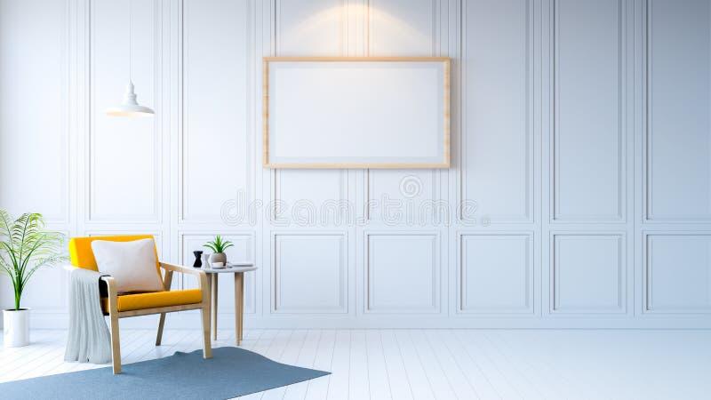 Sala minimalista ilustração do vetor