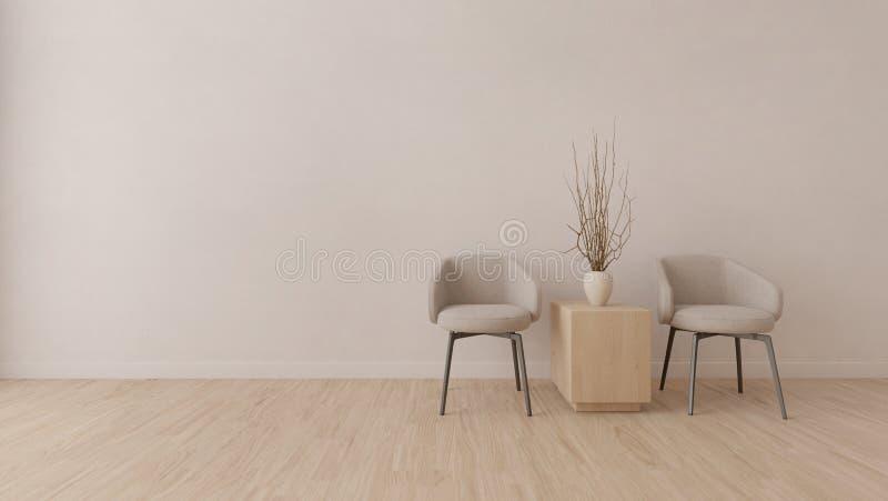 Sala moderna com cadeira cinzenta ilustração royalty free