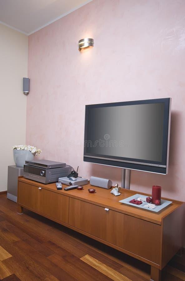 Sala moderna TV immagine stock libera da diritti