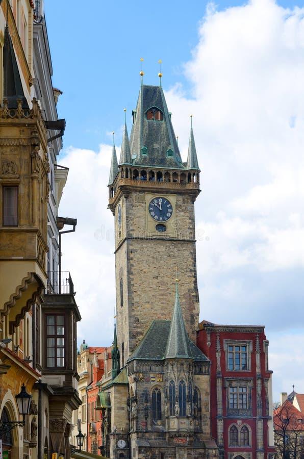 sala namesti stary Prague staromestske wierza miasteczko obrazy royalty free