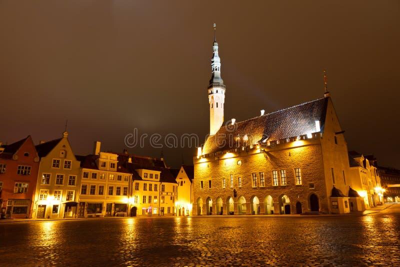 sala noc Tallinn miasteczko fotografia stock