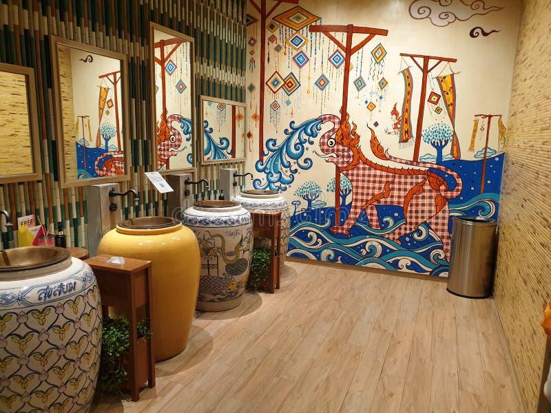 Sala original dos homens de Banguecoque da alameda de Iconsiam foto de stock royalty free
