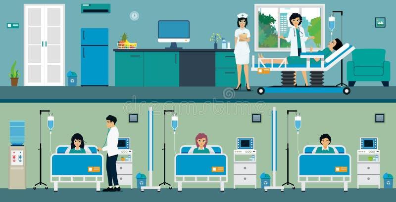Sala paciente ilustração do vetor