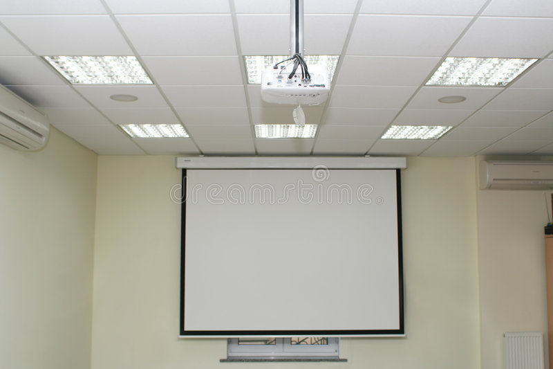 sala posiedzeń projekcyjny ekranu zdjęcia royalty free