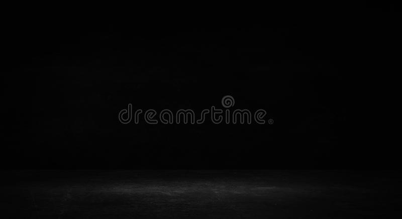 Sala preta vazia do estúdio Fundo escuro Textura vazia escura abstrata da sala do estúdio fotos de stock