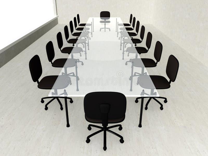 Sala riunioni concreta illustrazione vettoriale