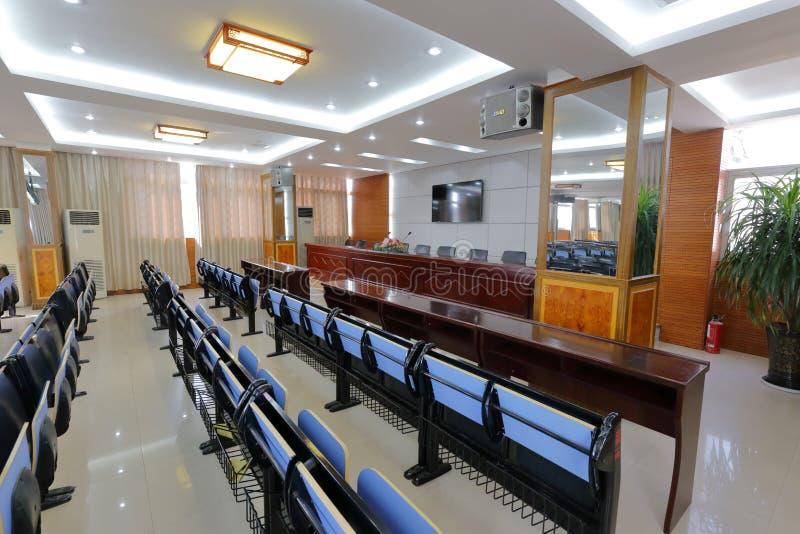 Sala riunioni della High School di minoranza nazionale di ningde, adobe rgb fotografie stock libere da diritti