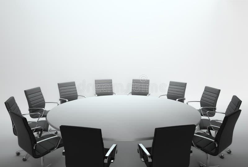 Sala riunioni e congresso vuoti illustrazione vettoriale