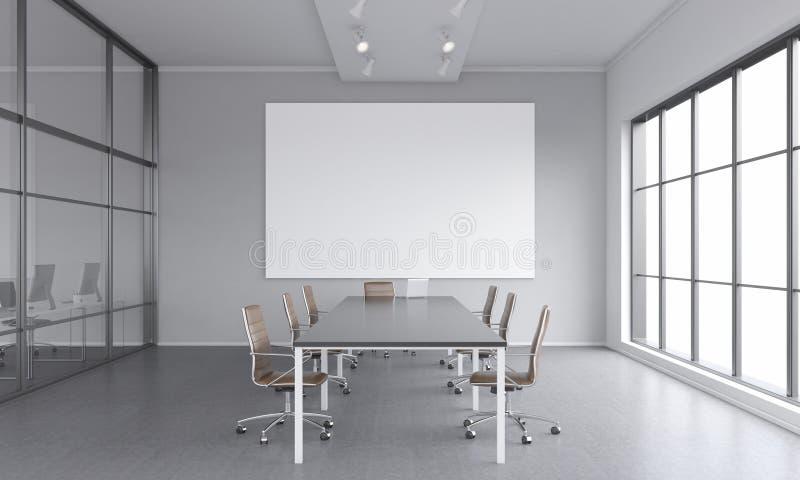 Sala riunioni per sette genti royalty illustrazione gratis