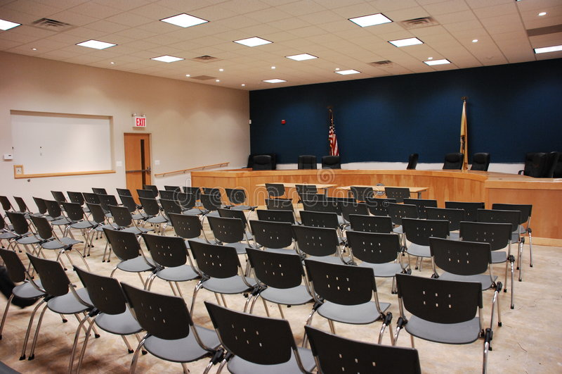 Sala riunioni vuota fotografia stock libera da diritti