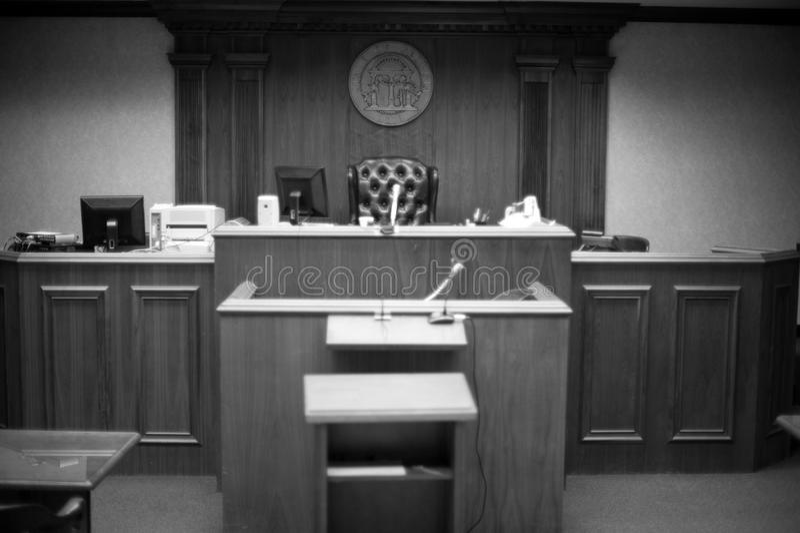 sala sądowa fotografia stock