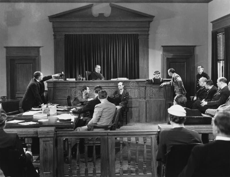Sala sądowej scena (Wszystkie persons przedstawiający no są długiego utrzymania i żadny nieruchomość istnieje Dostawca gwarancje  obraz royalty free