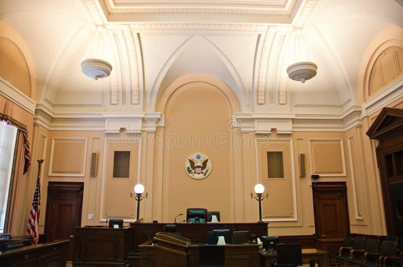 sala sądowej wnętrze zdjęcia royalty free