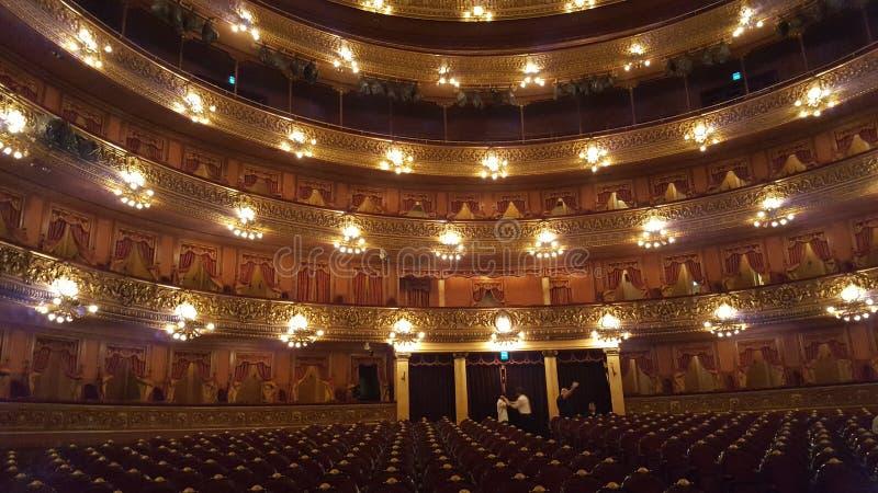 Sala Teatro Colon arkivfoto