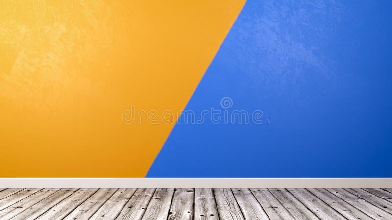 Sala vazia com fundo da parede de Duotone ilustração stock