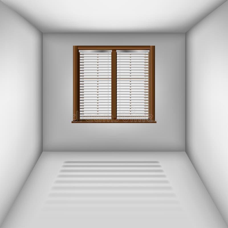 Sala vazia com janela e cortinas ilustração do vetor
