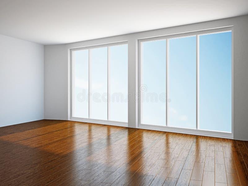 Download Sala vazia com janela ilustração stock. Ilustração de decorar - 29835681