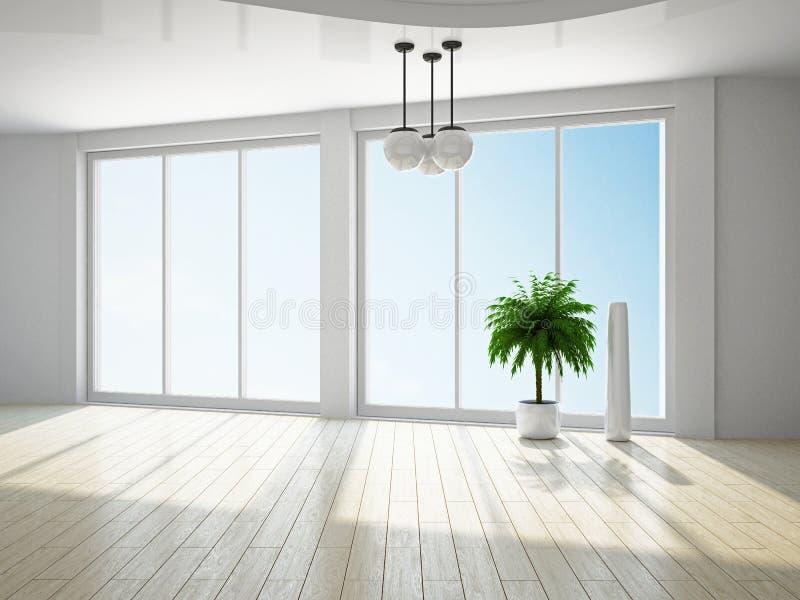 Sala vazia com janela ilustração stock