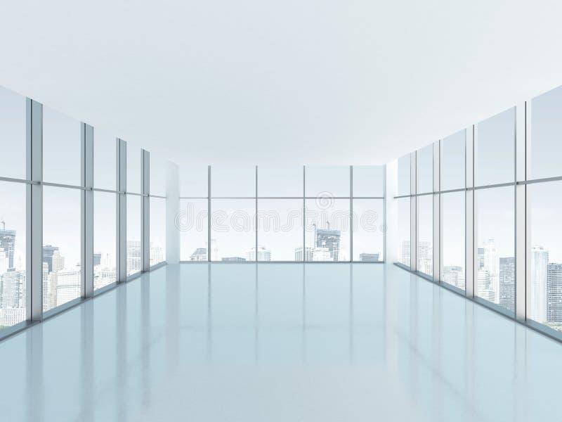 Sala vazia com a janela panorâmico grande ilustração royalty free