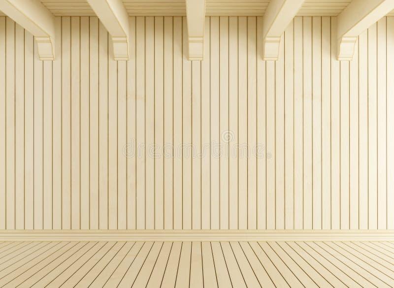 Sala vazia com madeira clara ilustração do vetor