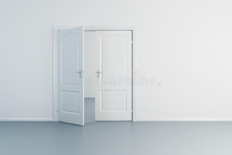Sala vazia com porta aberta ilustração stock