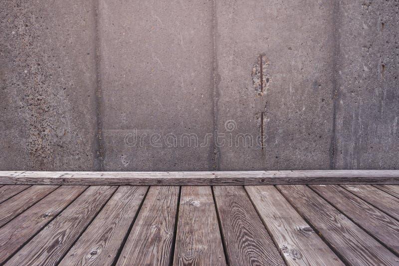 Sala vazia como o fundo da colocação do produto fotografia de stock