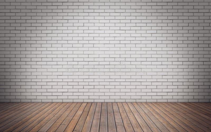 Sala vazia da parede de tijolo ilustração stock
