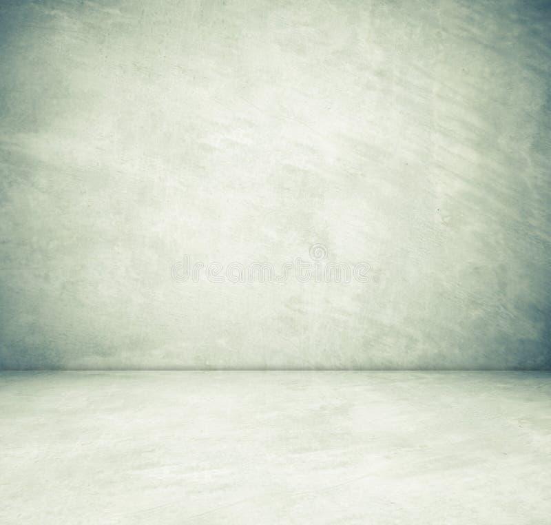 Sala vazia do cimento na opinião de perspectiva, fundo do grunge foto de stock