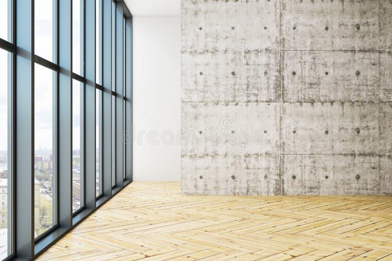Sala vazia do escritório com copyspace ilustração royalty free