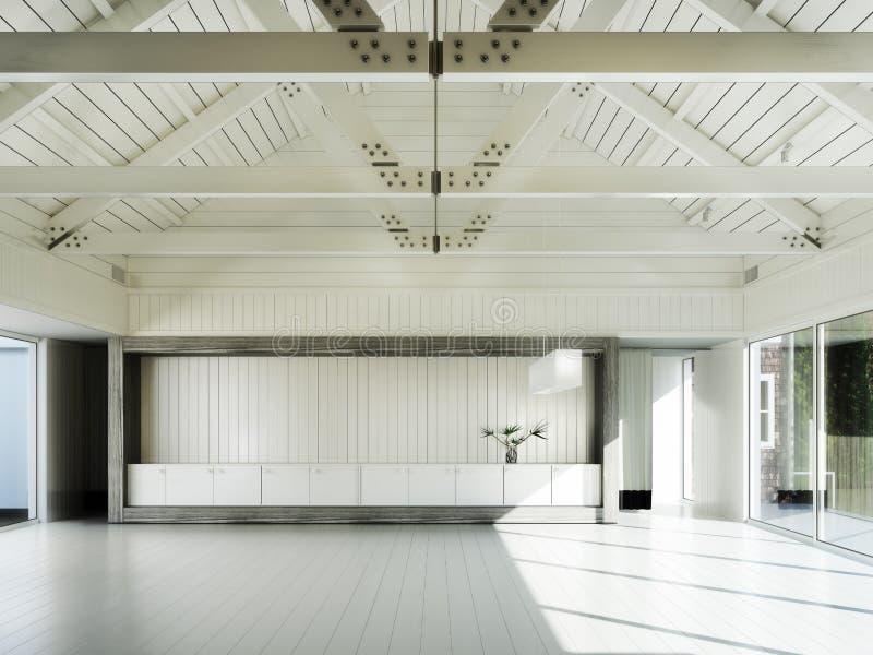 Sala vazia do negócio, ou residência ilustração royalty free