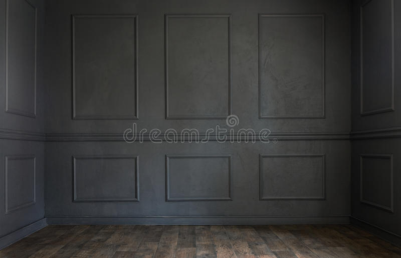 Sala vazia velha do Grunge foto de stock