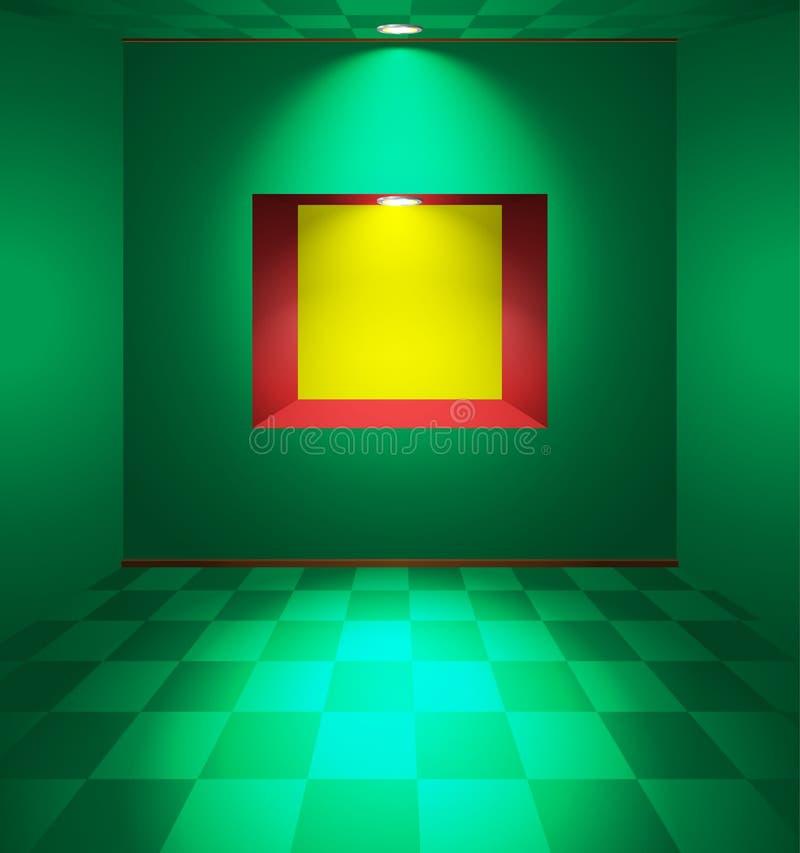 Sala verde com ameia ilustração do vetor