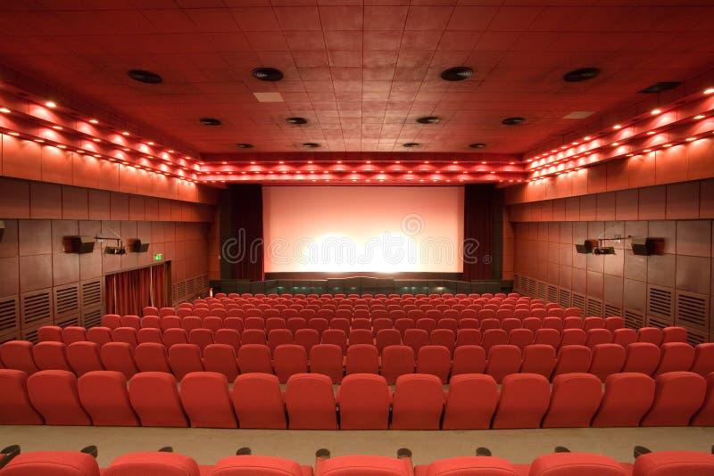 Sala vuota del cinematografo fotografie stock