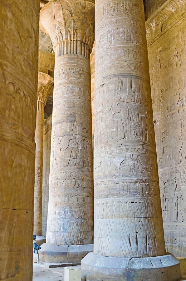Sala z kolumnami obrazy stock