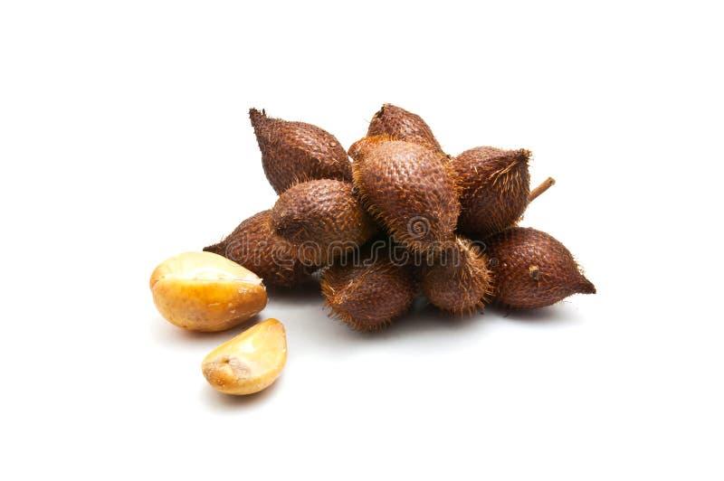 Salaccafruit op witte achtergrond royalty-vrije stock foto's
