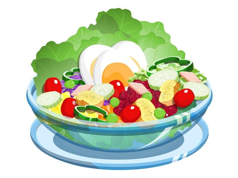 Download Salad stock illustration. Illustration of tomato, healthy - 23883580