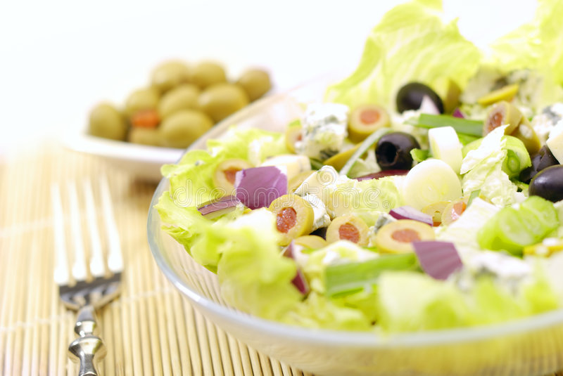 The Salad. Fresh Salad Appetizer on the plate royalty free stock photos