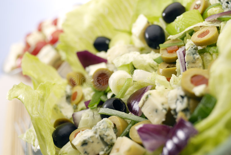 The Salad. Fresh Salad Appetizer on the plate royalty free stock photography