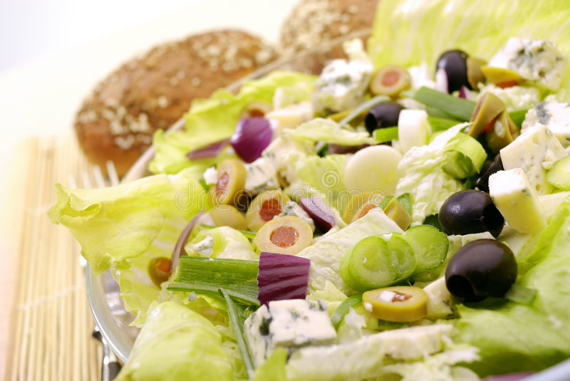 The Salad. Fresh Salad Appetizer on the plate royalty free stock images