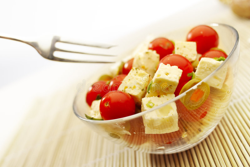 The Salad. Fresh Salad Appetizer on the plate stock images
