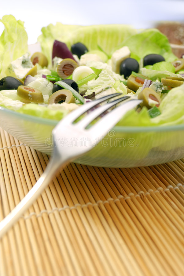 The Salad. Fresh Salad Appetizer on the plate stock photos